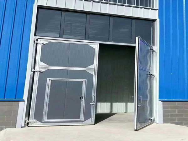 小型加固平开工业门