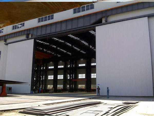 大型电动推拉工业门
