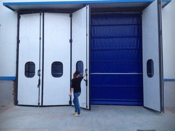 库房工业折叠门