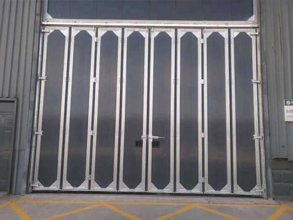 锌钢工业折叠门