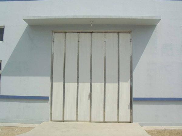 小型车间工业折叠门
