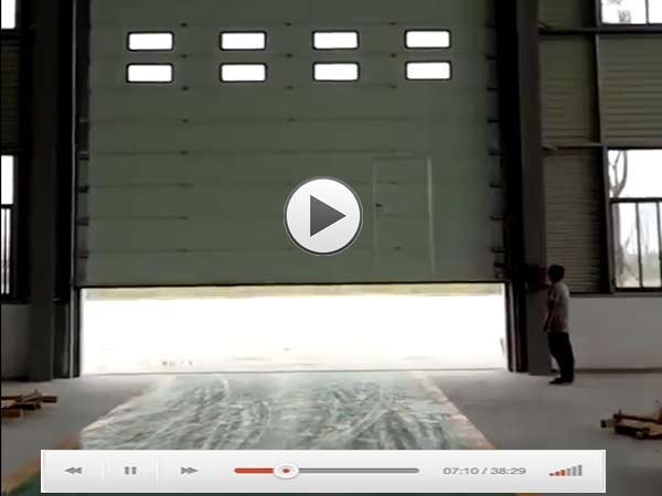 大型提升工业门视频演示